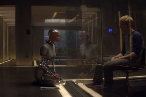 a review of artificial intelligence in ex machina a movie by alex garland 'ex machina' review by ben kendrick 04242015 nathan has been working on an advanced artificial intelligence named ava (alicia vikander) - and has brought caleb in as a consultant ex machina is a movie about questions and debate.